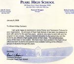Pearl High School Letter