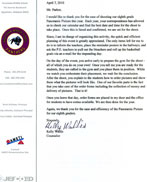 Hueytown Middle School Letter